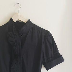 Marc Jacobs NWOT Black Midi Buttondown Dress Sz 8